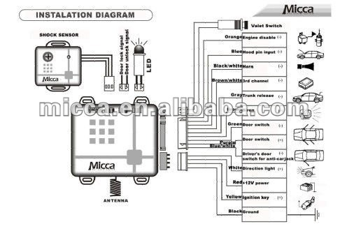 One Way Car Alarm Wiring Diagram