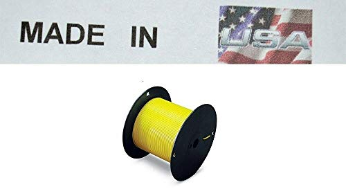 Primary Trailer Light Cable Wire 12 Gauge 100' Yellow Insulated