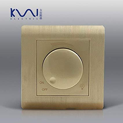 Quaros Luxury Wall Light Switch Dimmer Controller Champagne Gold