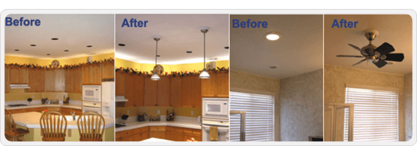 Recessed Lighting  Convert Recessed Light To Ceiling Fan Home