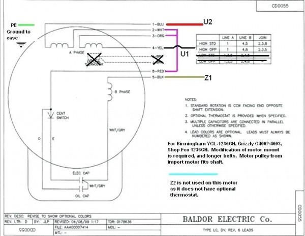Reliance Wiring Diagrams