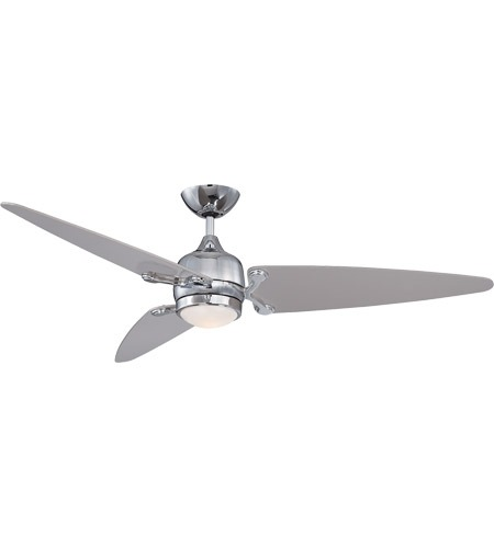 Savoy House Mistral 1 Light Ceiling Fan In Chrome With Satin Nickel