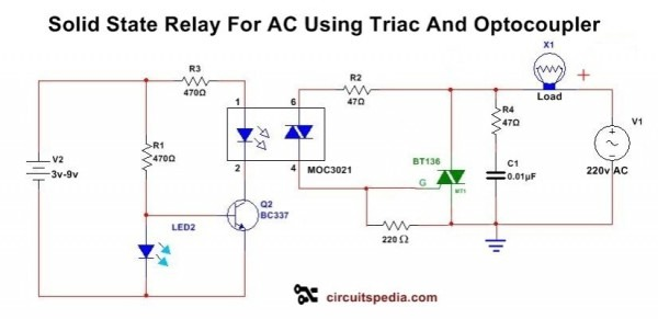 Solid State Relay Circuit Diagram Solid State Relay Circuit Using