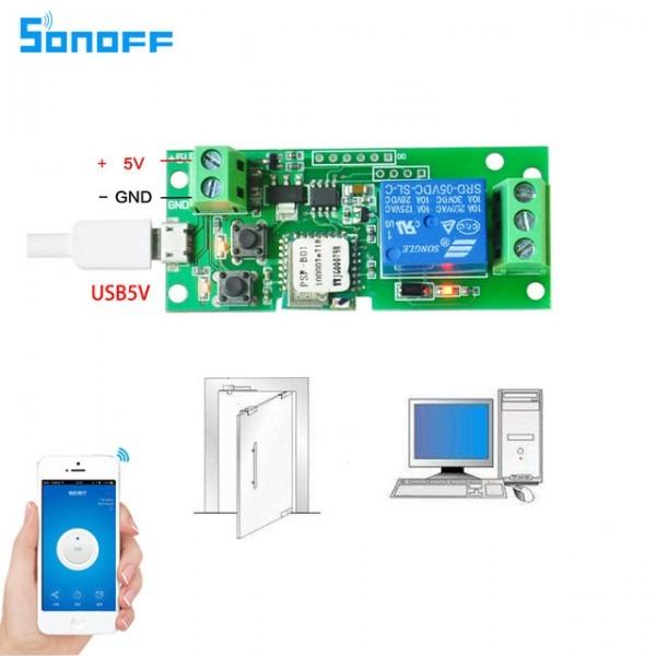 Sonoff Dc5v 12v 24v 32v Wifi Switch Wireless Relay Module Smart