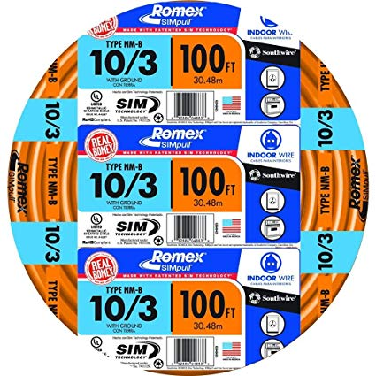 Southwire 63948426 100' 10 3 With Ground Romex Brand Simpull