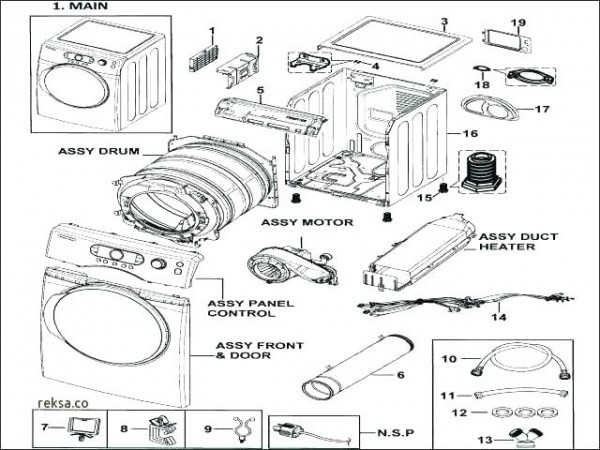 Steam Washer Parts Lg Repair Manual Top Samsung Vrt Front Load And