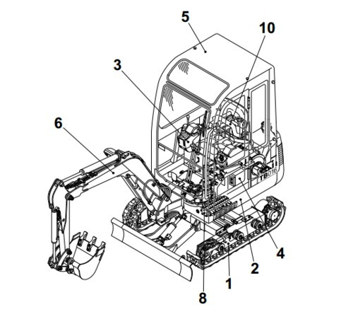 Takeuchi Tb045 Compact Excavator Parts Manual Download