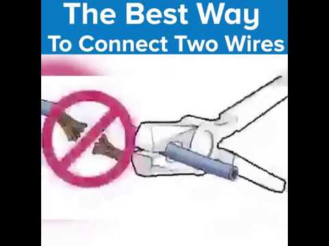 The Best Way To Connect Wires Together !! Amazing!