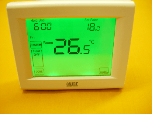 Touch Screen 7 Day Programmable Room Thermostat 2 Wire Volt Free