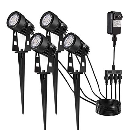 Upgrade Led Outdoor Spotlight, Greenclick 4 Pack 12v Low Voltage