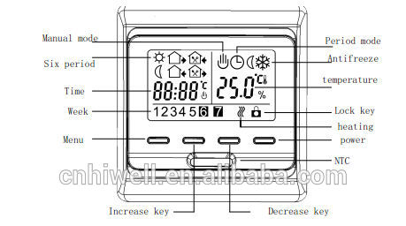 Weekly Programming Digital Display Lcd Thermostat Thermoregulator