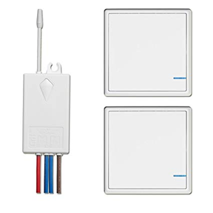 Wireless Switch And Receiver Kit, Dual Control Push