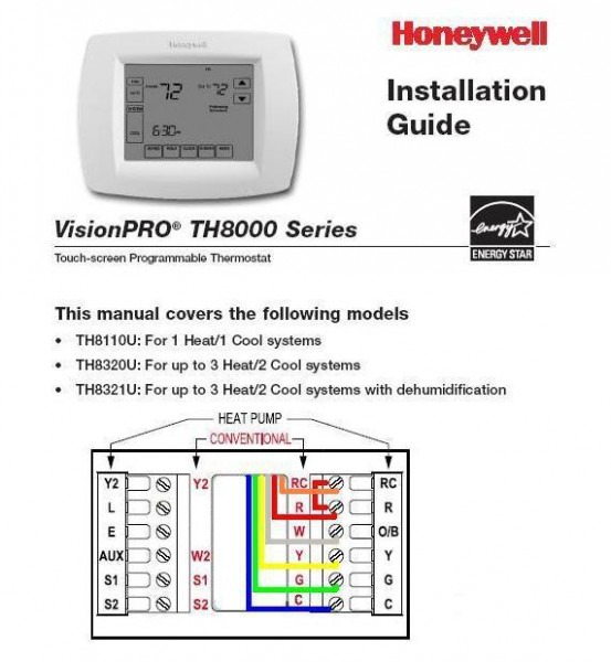 Wiring A Honeywell Thermostat To A Trane Heat Pump With Ng Aux W