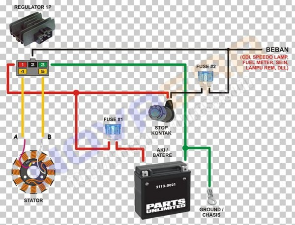 Wiring Diagram Honda Motorcycle Electrical Cable Png, Clipart