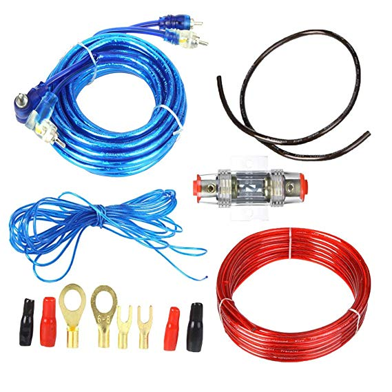 Amazon Com  Fly Rc 1500w Car Audio Subwoofer Amplifier Wiring Kit