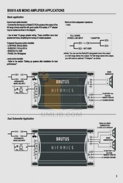 Hifonics Wiring Diagram