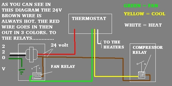 Home Air Home Air Conditioner Thermostat Wiring