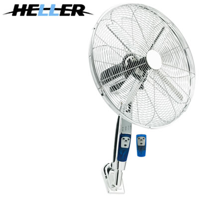 Oscillating Wall Mount Fan With Remote Control