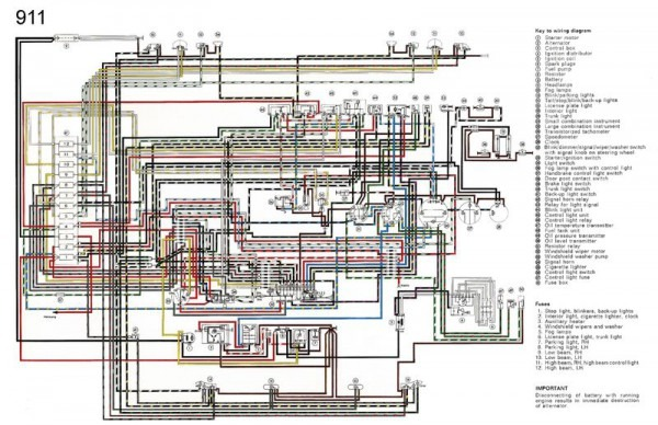 1966 porsche 911 wiring harness wiring diagrams structure 2008 Porsche 911 Wiring-Diagram