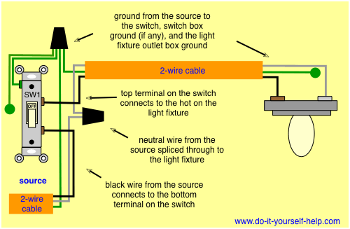 Wire A Light Switch Diagram