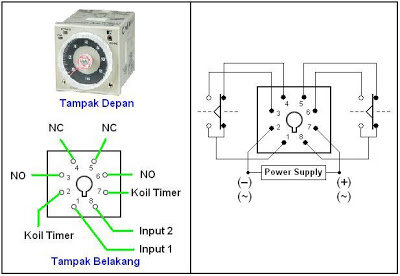 Wiring Diagram Relay Omron